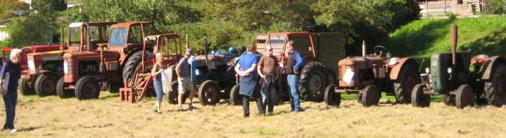Traktorer fanns det gott om i alla variationer och årsmodeller