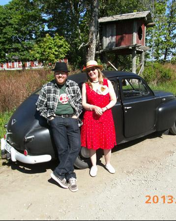 """Per-Åke & Margareta med sin """"pärla"""""""