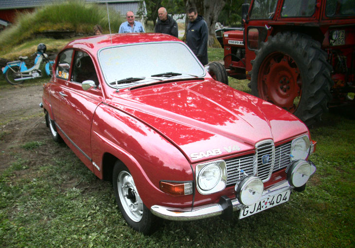 Bland bilarna var dagens höjdpunkt en saab årsmodell 1973 med endast en ägare. KG Gustavsson i Skällinge