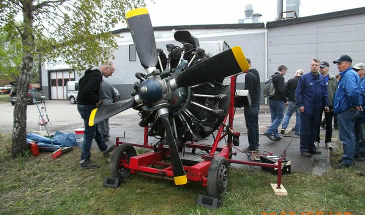 tibro-flygplansmotor