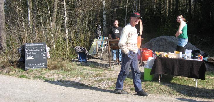 Vi hade naturligtvis vår grillningsstation med oss...