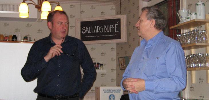 MHRF representanter Jan Tägt - generalsekreterare & Peter Edqvist - förbundsordförande
